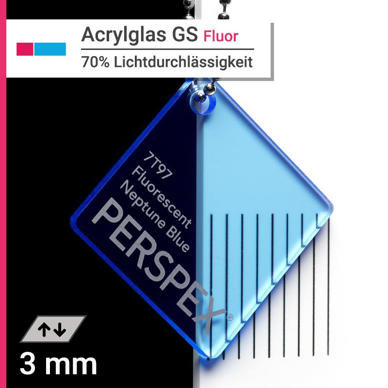 acrylglas gs fluoreszierend