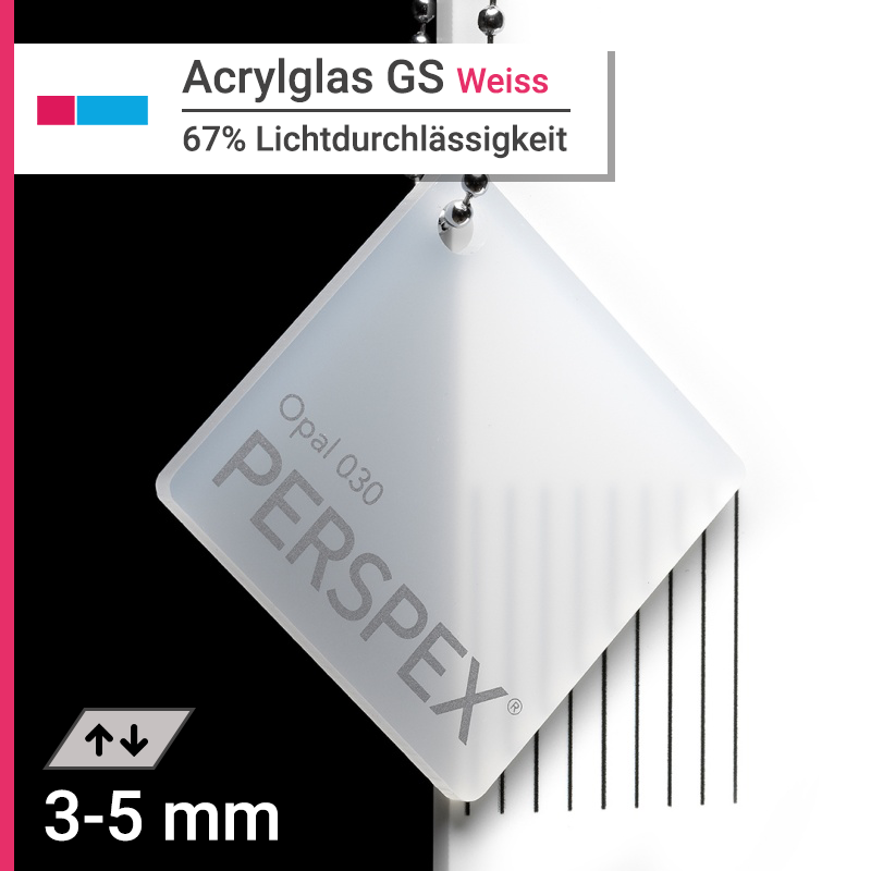 acrylglas gs weiss opal